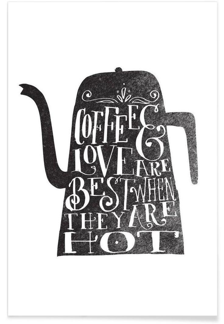 coffee & love als Premium Poster von Matthew Taylor Wilson   JUNIQE