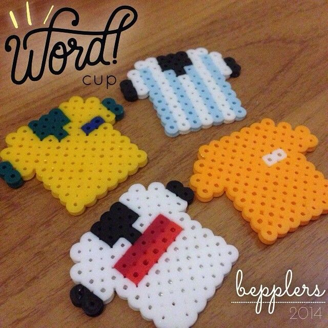 FIFA World Cup 2014 T-shirts perler beads by bepplers
