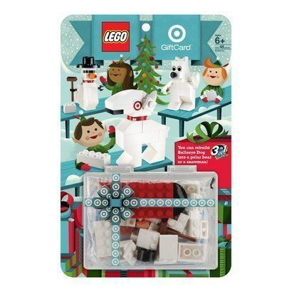 2011 Target Lego Dog Bulleyes Gift Card 3 in 1 Lego set - Build a Polar Bear,  Snowman or a Dog.  Limited to 2011 production.  Gift card does not contain any balance.