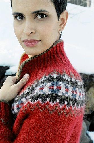 Ravelry: patrón de la chaqueta de esquí por Veronik Avery
