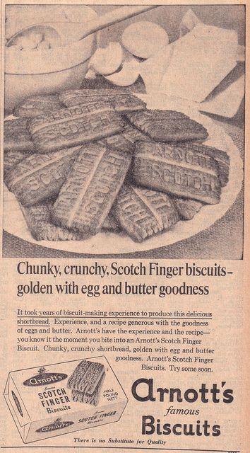 1966 ARNOTTs Scotch Finger Biscuits Ad - Australia | Flickr - Photo Sharing!