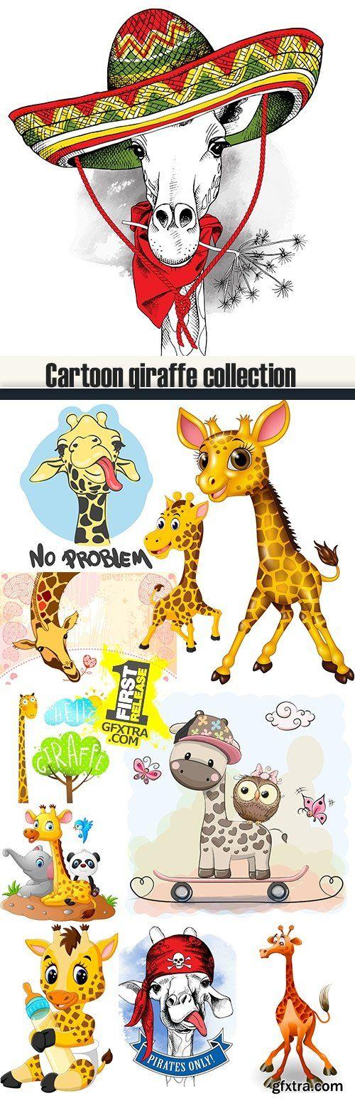 Cartoon giraffe collection