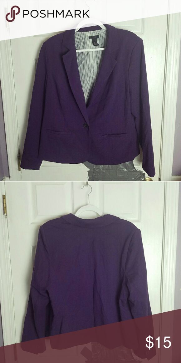 Lane Bryant Royal Purple Blazer In excellent condition. Worn only a handful of times. Very soft & comfortable. Has beautiful pinstripes on the inside of the blazer. Lane Bryant Jackets & Coats Blazers