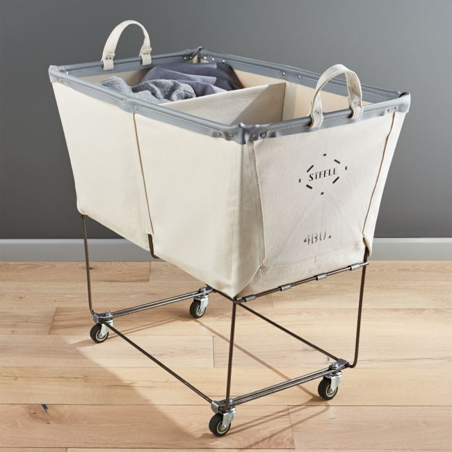Steele Divided Canvas Sorter Laundry Room Storage Laundry