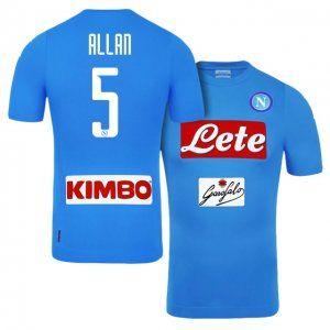 16-17 Cheap SSC Napoli Home #5 Allan Replica Football Shirt [H00830]
