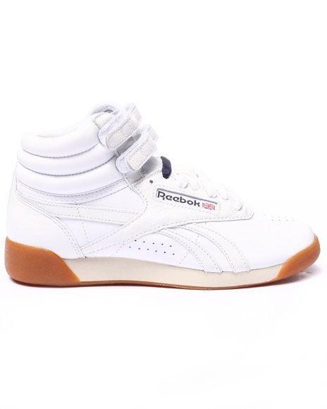 Reebok - Freestyle Hi Fitness Gum Sneakers