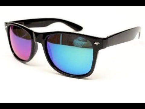 Flat Matte Reflective Revo Color Lens Large Wayfarers Style Sunglasses -...