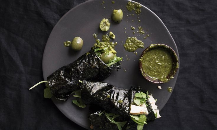 "Once you try this recipe, it'll quickly become a fave. It's so easy to make, and the flavors really light up your taste buds. There are a few things that make this recipe special. At the top of the list – nori seaweed that's been flattened into a seaweed wrap ""tortilla""."
