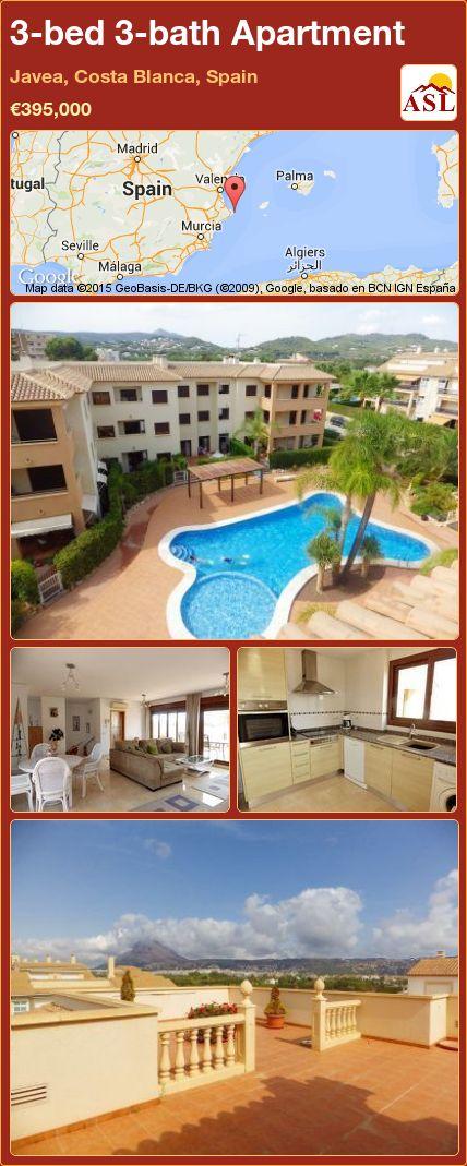 3-bed 3-bath Apartment in Javea, Costa Blanca, Spain ►€395,000 #PropertyForSaleInSpain