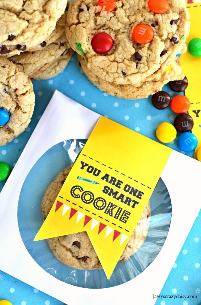 These are so fun!!! Love them! You Are One Smart Cookie Printable | Jasey's Crazy Daisy