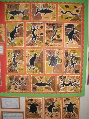 aboriginal painting in layers