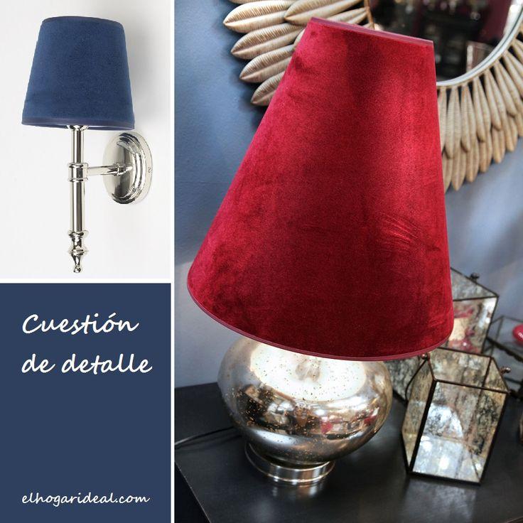 Iluminamos tus ilusiones. ¿Te gustan las tulipas de terciopelo? ¿Rojo o azul? http://elhogarideal.com/es/iluminacion/1074-lampara-de-lectura-brime.html#.VmissvnhC1s