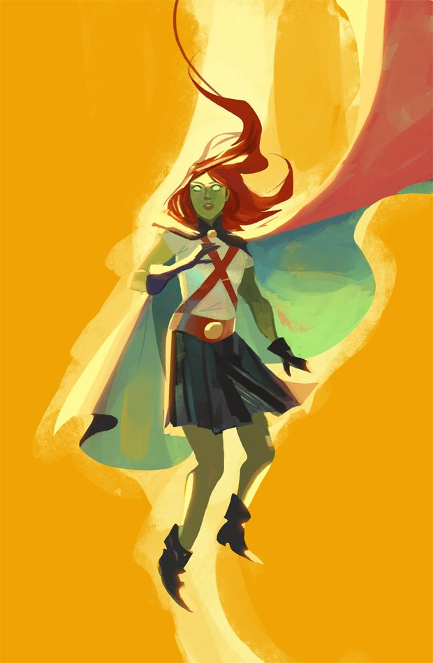 seventypercentethanol:  Miss Martian. I started watching Young Justice S1, what a good show.