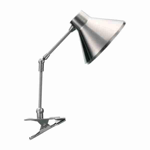 Bobby Lampes De Bureau Argente Metal Habitat Clamp Lamp Lamp