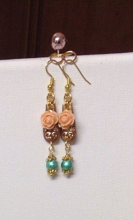 Vintage Romantic Vintage Earrings in lovely colours $19.95 plus postage