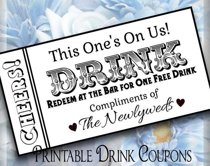 Drink Tickets Drink Token Printable Wedding Drink Tickets Etsy Drink Ticket Wedding Drink Tickets Wedding Drink