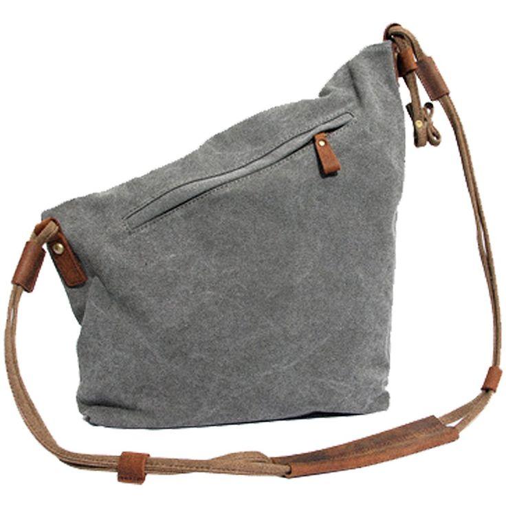 Partiss Unisex koreanische Tasche retro literarischen Hochschule Stil Schultertasche Messenger Bag, onesize,grey: Amazon.de: Schuhe & Handtaschen