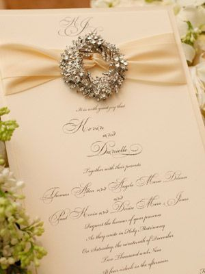 Holiday wedding invite