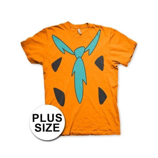 The Flintstones t-shirt met korte mouwen in grote maten. Het shirt heeft print aan de voorzijde waardoor het lijkt alsof je de outfit van Fred Flintstone draagt! Materiaal: 100% gekamd katoen.