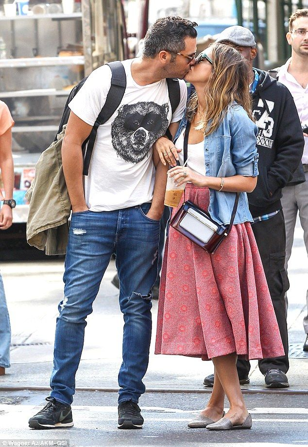 Still lovebirds: Jessica Alba and Cash Warren were spotted spending quality time while strolling in New York City together on Friday