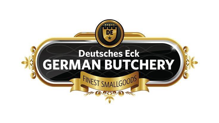 Combine this logo with red, black and yellow and you get a real traditional German feel throughout all the signage and branding.