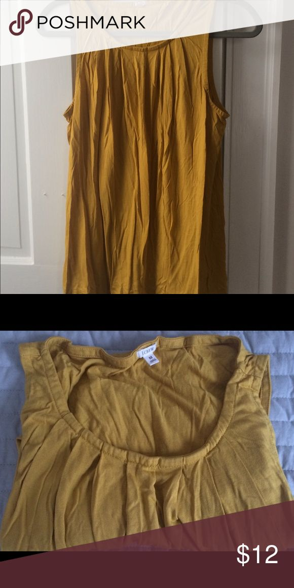 J crew mustard yellow tank J crew mustard yellow tank.  Top with slight pleated gathering at neckline (see pic).  Comes from a pet-free, smoke-free home. J. Crew Tops Tank Tops