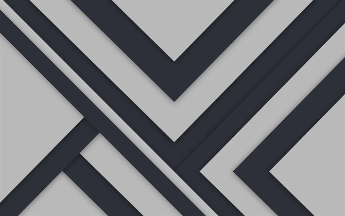 Download wallpapers lines, geometric shapes, gray background, geometry, strips, material design
