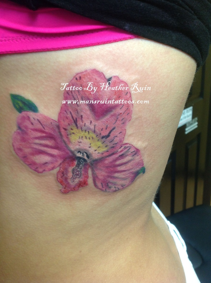 Peruvian lily tattoo by heather ruin for North carolina tattoo ideas