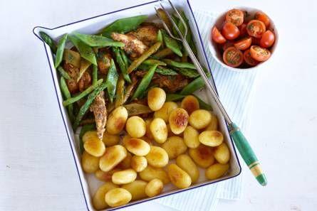Provençaalse kip met groene groenten en krieltjes - Recept - Allerhande - Albert Heijn