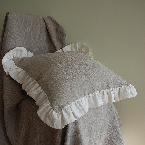 Check out this item in my Etsy shop https://www.etsy.com/listing/291291839/ruffled-natural-linen-pillow-sham