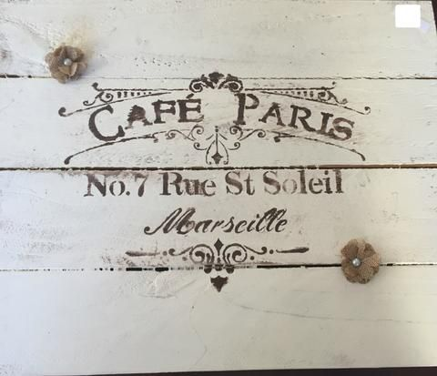 Cafe Paris sign - LadybugJellybean - 1