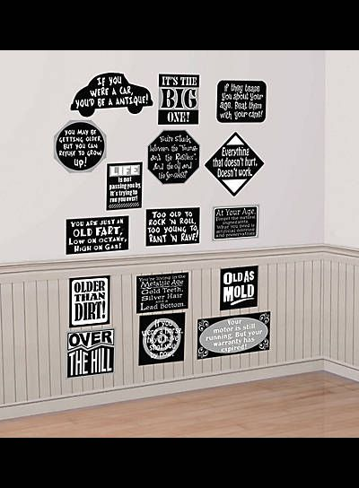 Over The Hill Birthday Party Wall Decorations Vinyl Cutouts Older Than Dirt 30th 40th 50th 60th Photo Prop In 2018