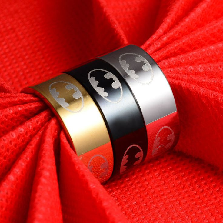 Stainless Steel Batman Rings - Titanium Steel Rings For Women and Men - FREE ITEM