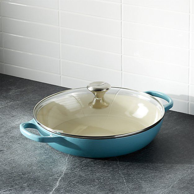 """Get professional cookware at home with this Le Creuset ® Signature casserole dish, which comes in vibrant colors -- caribbean blue, flame orange, and cerise -- that are sure to make you whistle while you work.  Better Homes & Gardens receives a commission for purchases made through the link on this page."""