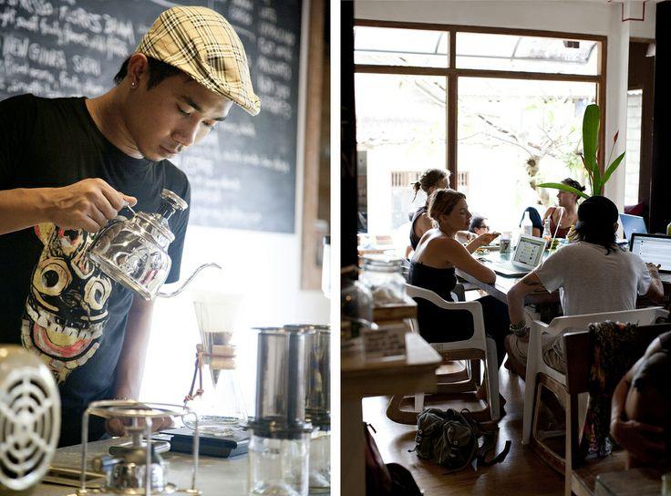 Seniman Coffee Studio, Ubud. Great artisan coffee