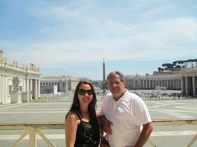Por Aí e Aqui: Roma V (Cidade do Vaticano - Praça São Pedro e Bas...