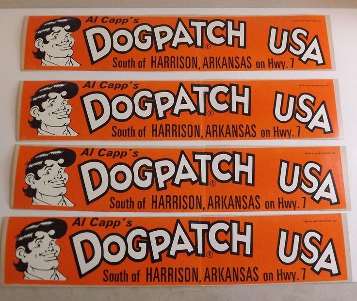 Dogpatch usa dogpatch usa vintage bumper sticker by bumperstickersnmore on etsy