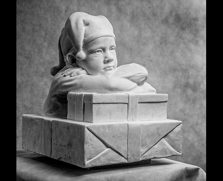 Michal Jackowski, DREAMER, Carrara white marble, 36 x 40 x 40 cm, 2013  #sculptures #humans #antique #pinart #creative #passion #love #art #classic #kids #young