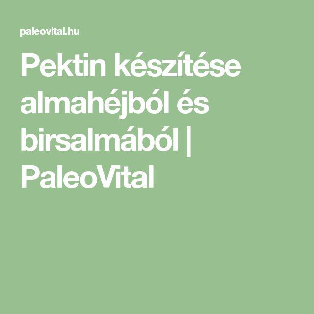 Pektin készítése almahéjból és birsalmából | PaleoVital