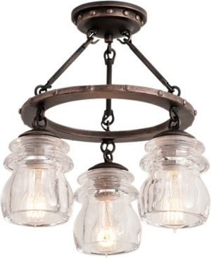 Kalco 6318 3-Light Semi Flush Ceiling Light from the Brierfield CollectionBrand Lighting Discount Lighting - Call Brand Lighting Sales 800-585-1285 to ask for your best price!