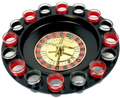 Drinking Roulette - Which fun lover doesn't love a drinking game. For ages, we have played and invented so many drinking contests......well....here is a chance to play yet another with the added fun of an actual casino game. You can add your personal tweaks to the game and make it more fun interesting too.   Brief Product Description Features: Shot glass roulette drinking game Perfect for 2-8 players Can be hand washed What's Included: Sixteen (16) shot glasses Two (2) balls One (1) roulette