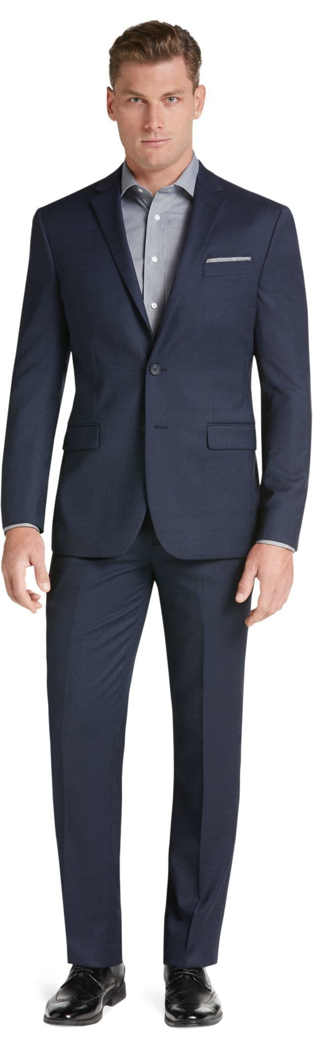 Travel Tech Collection Slim Fit Micro Stripe Suit Separate Jacket - Big & Tall