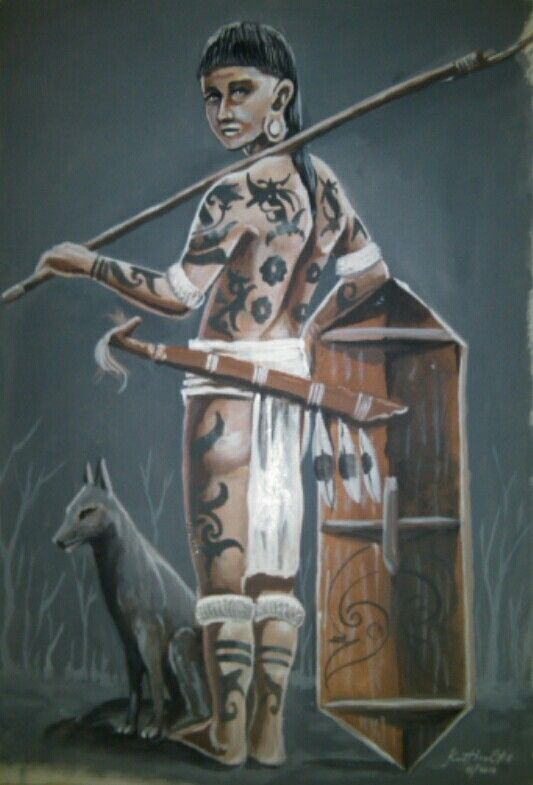 Dayak Hunter. Acrilik On Canvas 2015