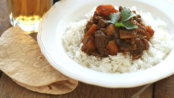 A hearty lamb dhansak made with vegetables and lentils is full of flavour and easily to make with my fast and simple recipe.