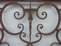 balcon  garde corps ancien fer forge regence