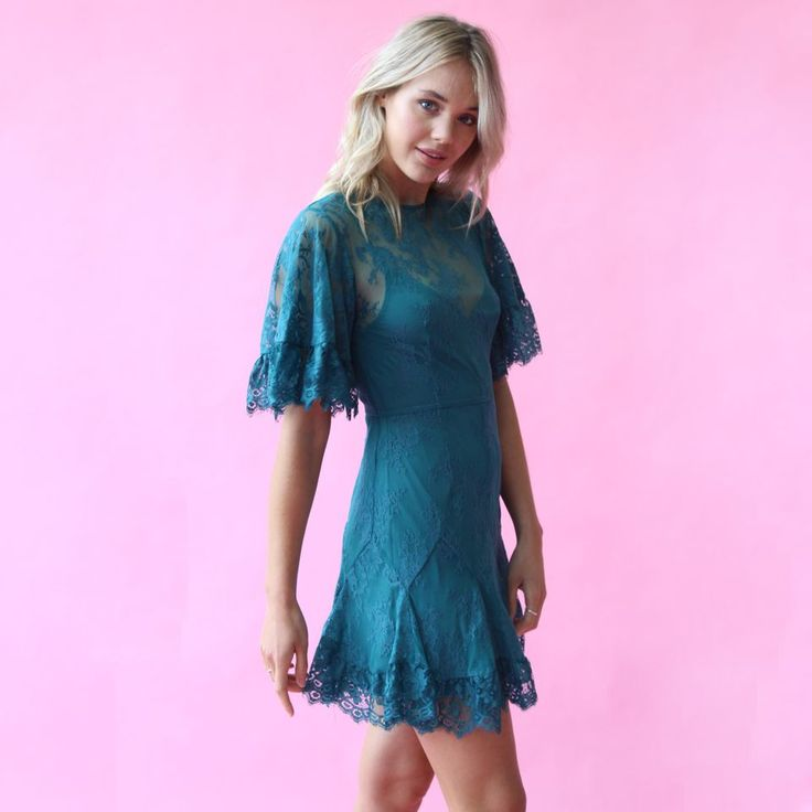 Talulah - Blind Love Mini Dress in Emerald // Available to hire in sizes for $69