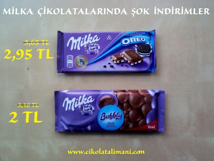 Milka Oreo ve Milka Bubly Sütlü Çikolata da indirimler sizi bekliyor    www.cikolatalimani.com