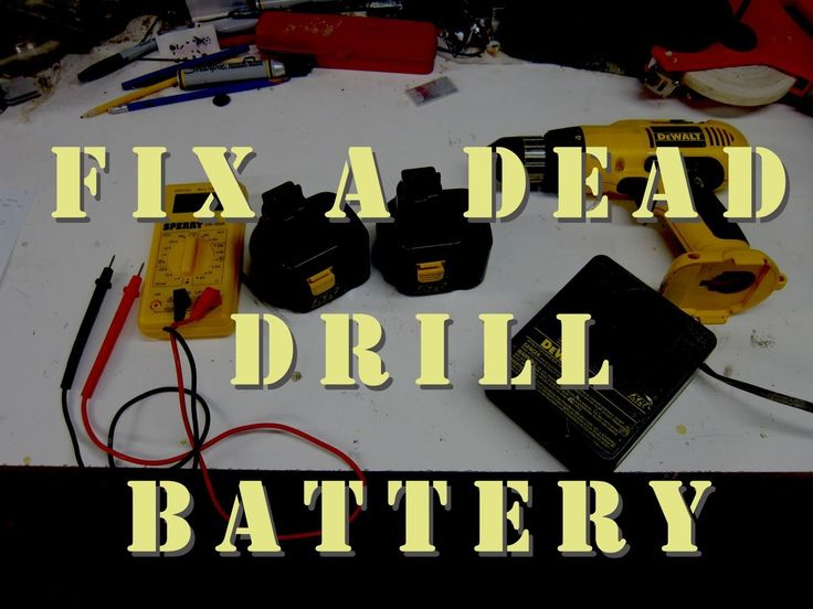 Video showing every step to restore an old drill battery back to new life