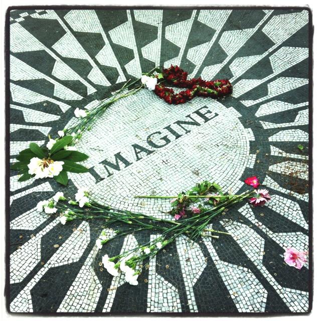 Strawberry Fields in Central Park #NewYork #JohnLennon #Imagine
