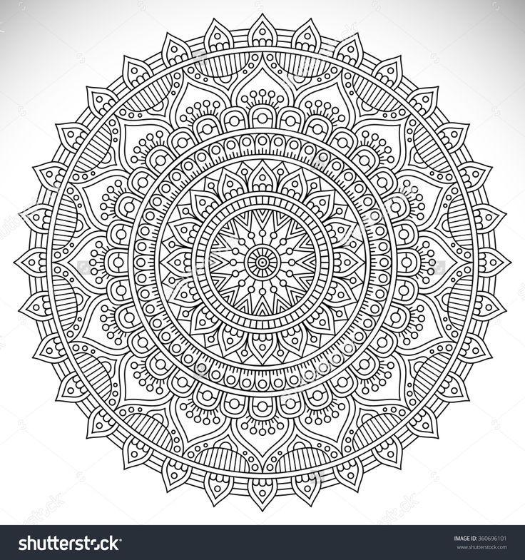 Mandala Vintage Dekorative Elemente Orientalisches Muster Vektor Illustration Isl Coloring Stock Images En 2020 Mandala Illustration Vectorielle Decoration Vintage